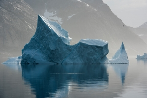 """Iceberg floating at Prince Christian Sound, North Atlantic Sea, Greenland"""