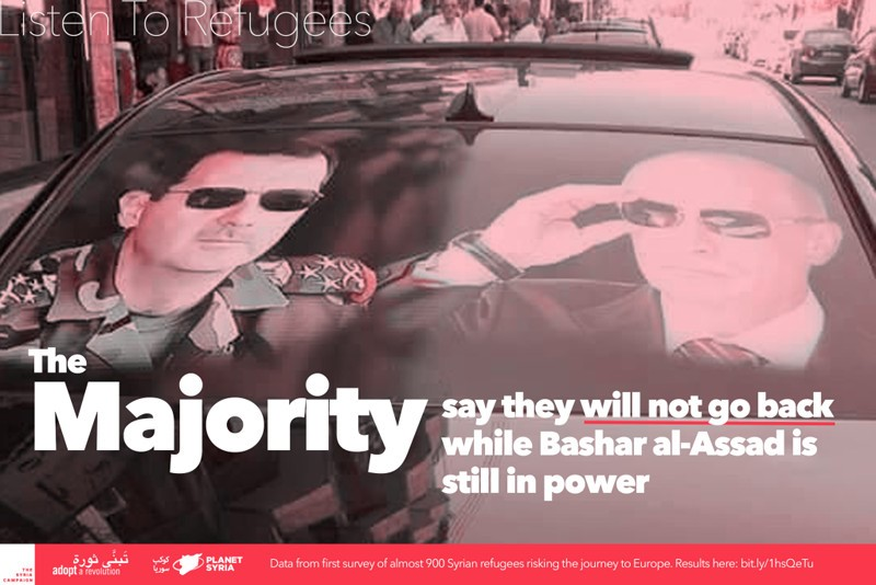La salida de Assad es una condición para que los sirios regresen a su país